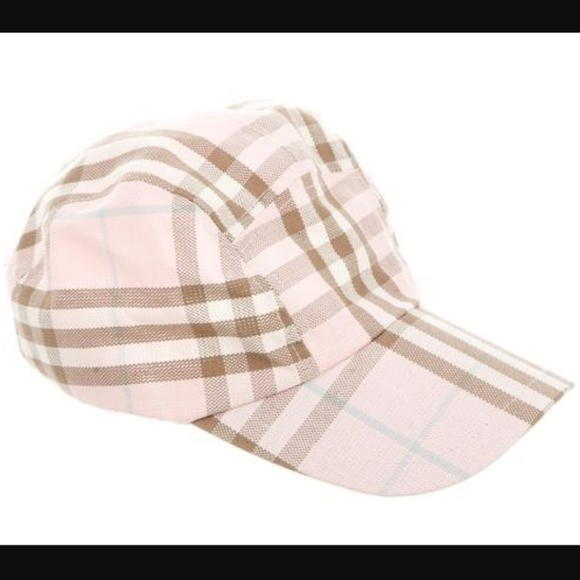 c865d8bc4d0 Burberry Accessories - Burberry Pink Multicolor Nova Check Baseball Hat